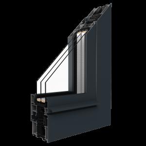 Rez hliníkového okna systému MB – 86SI